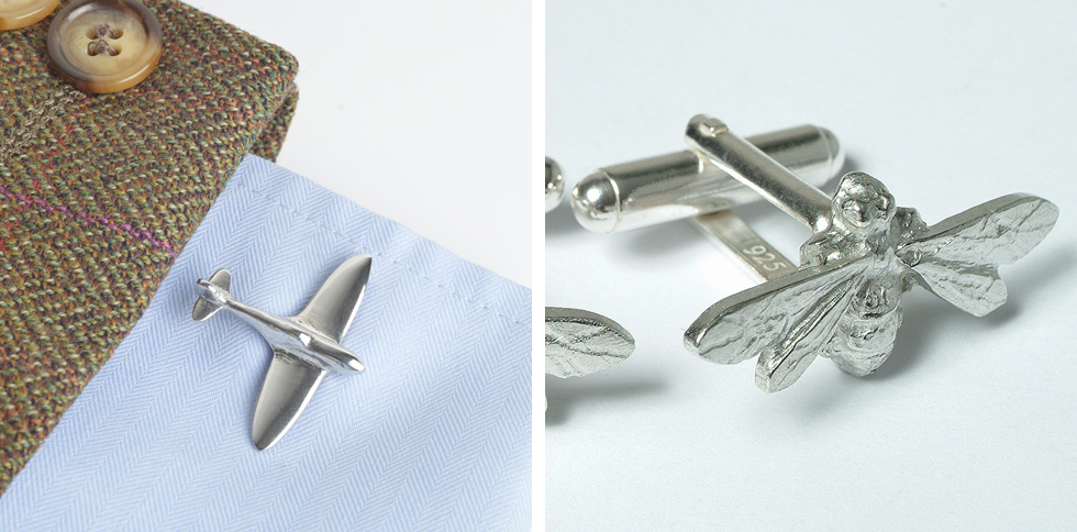 pewter cufflinks with Sterling silver findings uk pewter jewellery