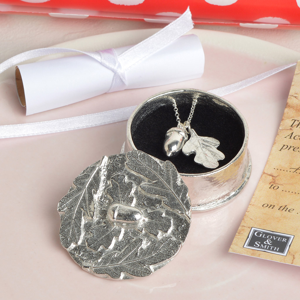 From Little Acorns Christening Necklace In Personalised Box