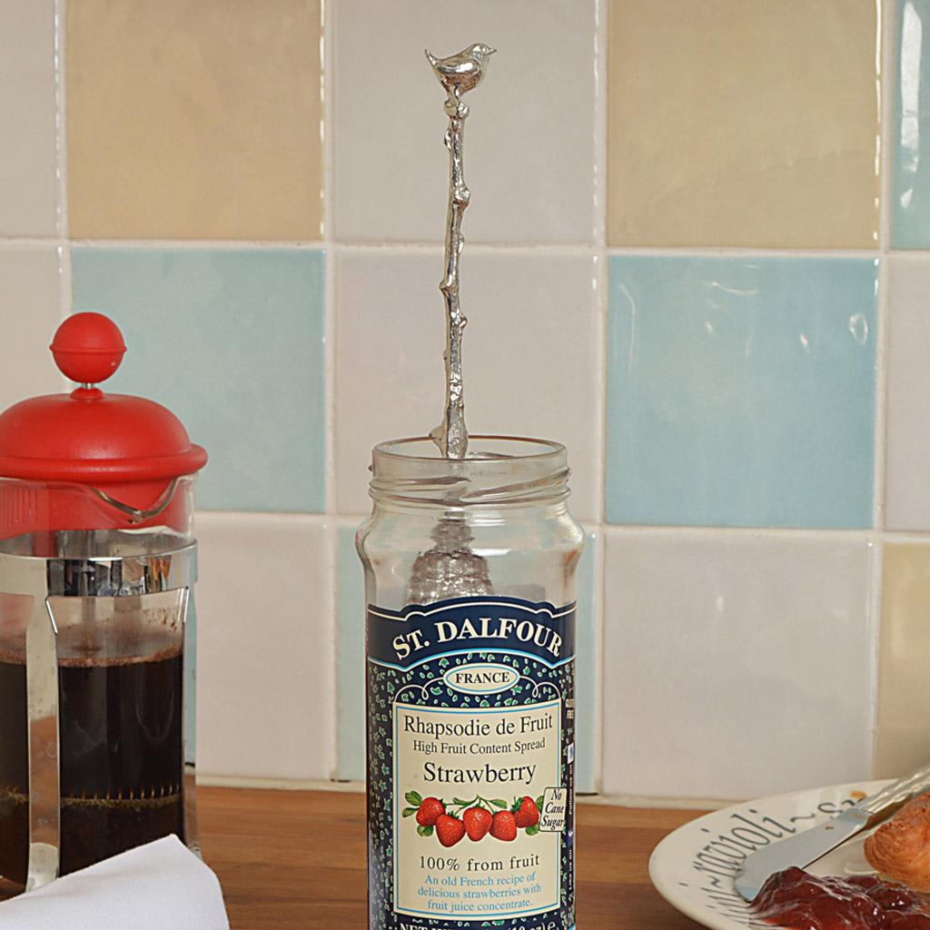 Bird Wren Jar Spoon Uk Made Jam Spoons With A Hook