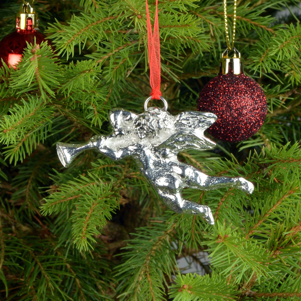 HANDCUFFS HAND CUFF Pewter Christmas ORNAMENT Holiday