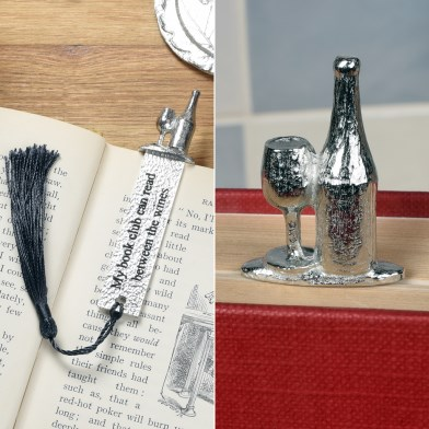 Book Club Wine Pewter Bookmark | Image 1
