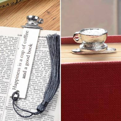 Coffee Cup English Pewter Bookmark | Image 1