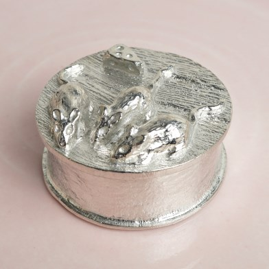 3 Blind Mice English Pewter Trinket Box | Image 1