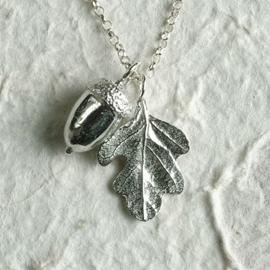 Acorn and Oak Leaf Necklace | Image 1