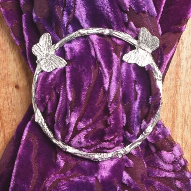 Butterfly Scarf Ring English Pewter Gifts | Image 1