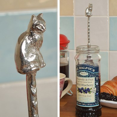 Cat Long Handled Jam Spoon | Image 1