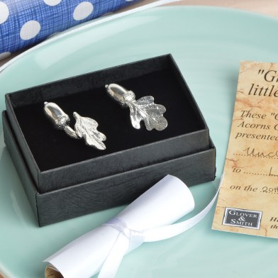 Christening Cufflinks 'From Little Acorns' Gifts for Boys | Image 1