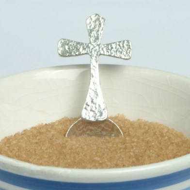 Christening Cross Small Sugar Spoon | Image 1