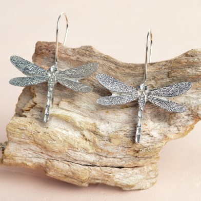 Dragonfly Drop Earrings | Image 1