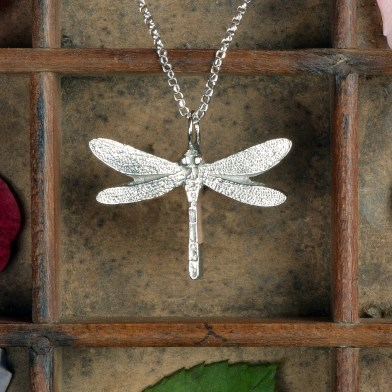 Dragonfly Necklace Pewter Jewellery Gifts UK Handmade | Image 1