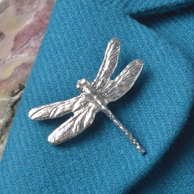 Dragonfly Pewter Brooch UK Handmade Dragonfly Gifts | Image 1