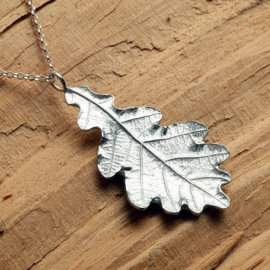 Oak Leaf Necklace English Pewter jewellery Gifts | Image 1