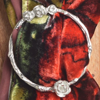English Rose Scarf Ring | Image 1
