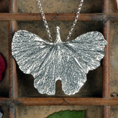 Ginkgo Leaf Necklace Pewter Jewellery UK Handmade | Image 1