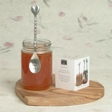 Heart Spoon Personalised Long Jar English Pewter Spoon | Image 1