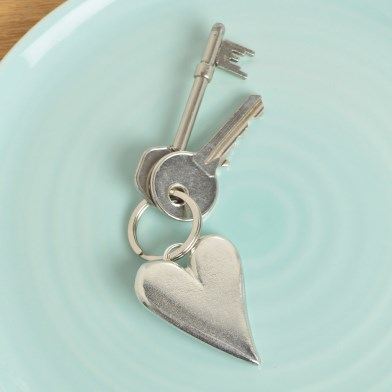 Heart Pewter Keyring, UK handmade Heart Gifts | Image 1