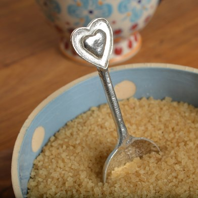 Heart Spoon Small Pewter Heart Spoon Gifts | Image 1