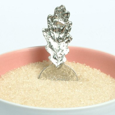 Oak Leaf Small Sugar Spoon | Image 1