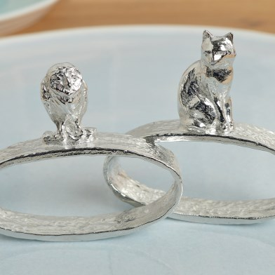 Owl and Pussycat Napkin Rings | Image 1