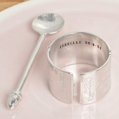 Personalised 'From Little Acorns' English Pewter Christening Egg Cup | Image 1