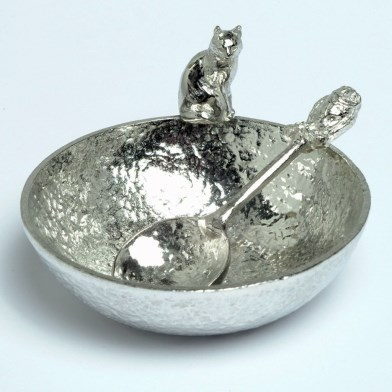 The Owl and Pussycat Pewter Bowl and Spoon Set | Image 1