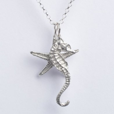 Seahorse and Starfish Necklace Pewter Jewellery Gifts UK Handmade | Image 1