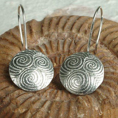 Spiral of Life Drop Earrings | Image 1