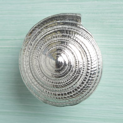 Pewter Seashell Drawer Pull Spiral Shell Furniture Handle | Image 1