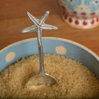 Starfish Pewter Spoon, Contemporary English Pewter Spoons | Image 1