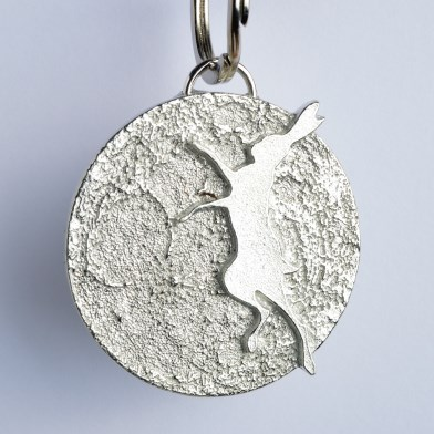 Boxing Dancing Hare Pewter Keyring English Pewter Hare Gifts | Image 1