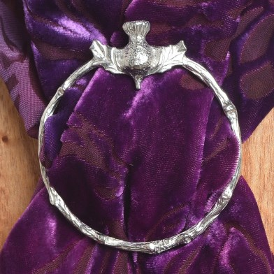 Scottish Thistle Pewter Scarf Ring | Image 1