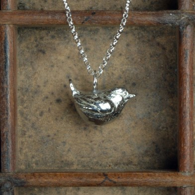 Wren Bird Necklace, Pewter Jewellery For Bird Lovers | Image 1