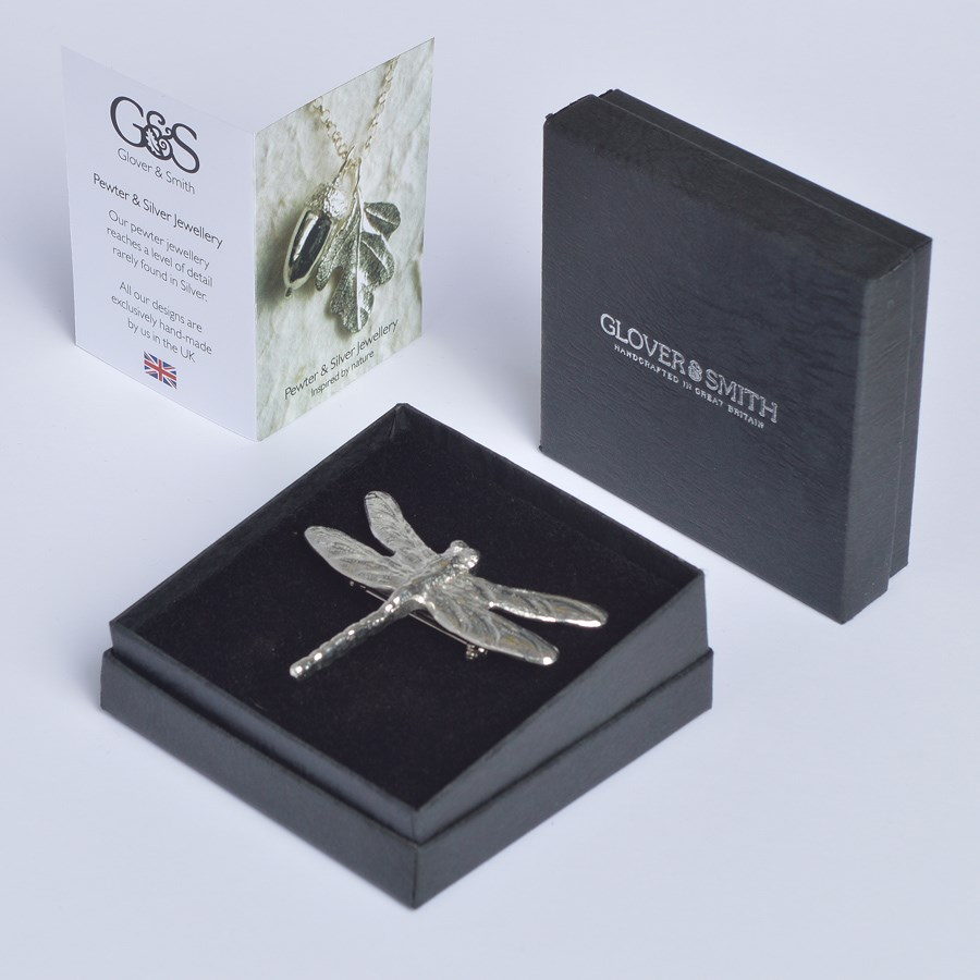 Dragonfly Brooch Uk Made Pewter Gifts
