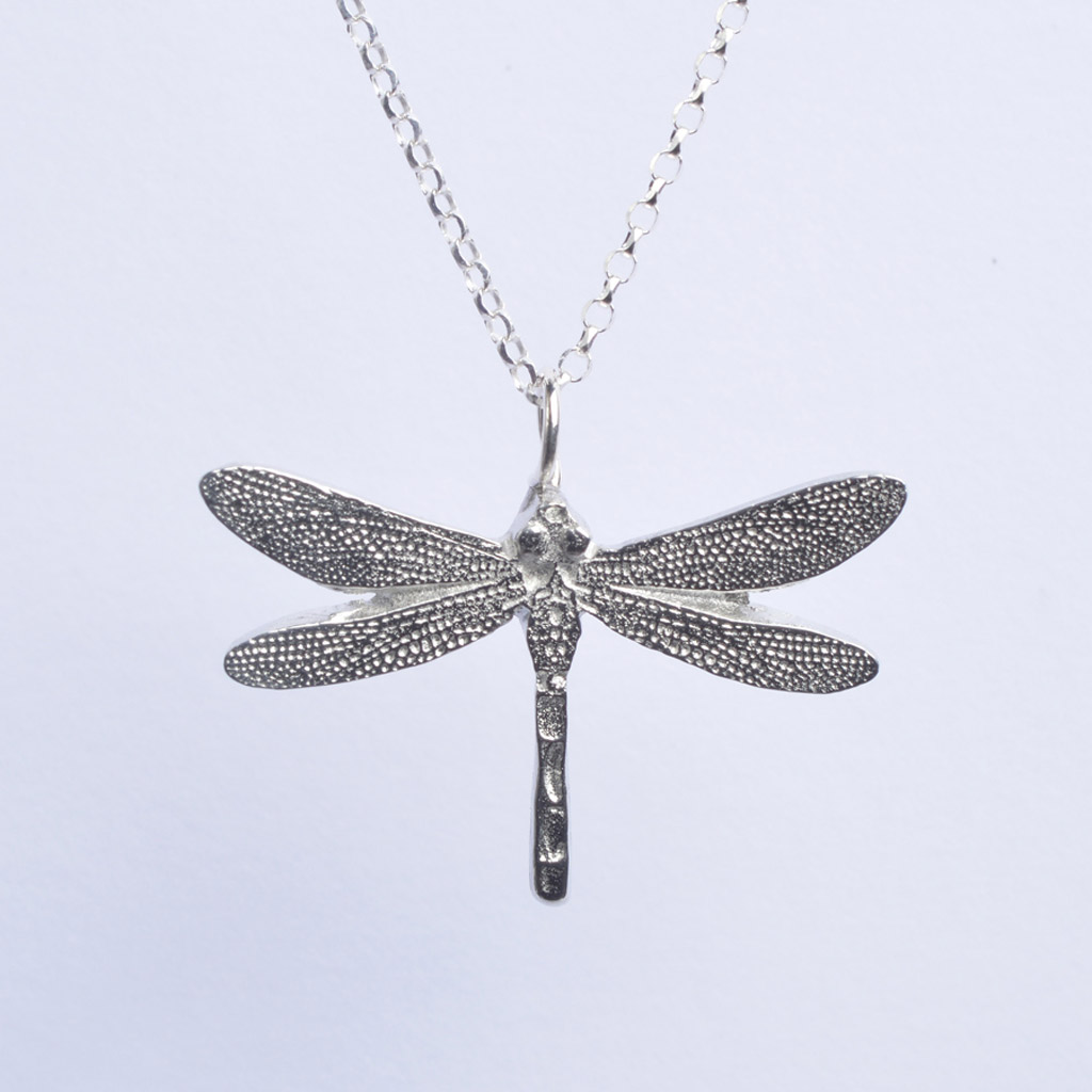 Dragonfly Necklace Uk Handmade Pewter Jewellery
