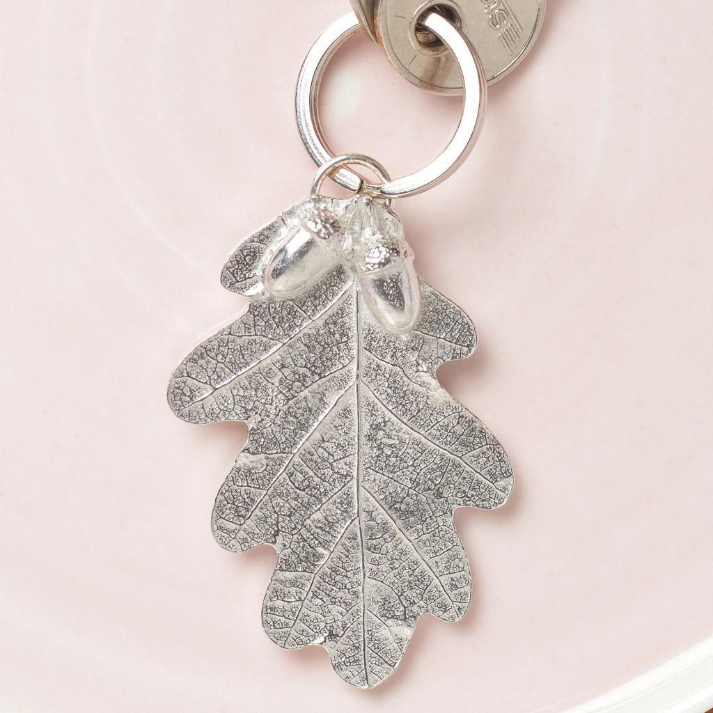 Oak Leaf and Acorn Keyring UK Made Pewter Oak Key Rings 34c80f09d552