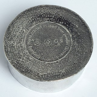 Flower Pewter Trinket Box with Amethyst Stone | Image 4