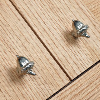 Acorn Cabinet knobs Solid Pewter Door Handle | Image 5