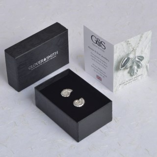 Ammonite Fossil Pewter Cufflinks, Gifts for Geologists | Image 2
