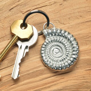 Ammonite Keyring English Pewter Fossil Keyring Gifts | Image 4