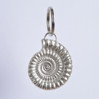 Ammonite Keyring English Pewter Fossil Keyring Gifts | Image 3