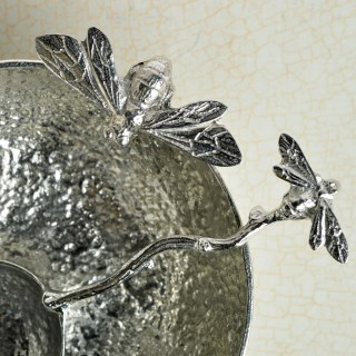 English Pewter Bee Bowl with Bee Pewter Spoon UK Handmade | Image 5