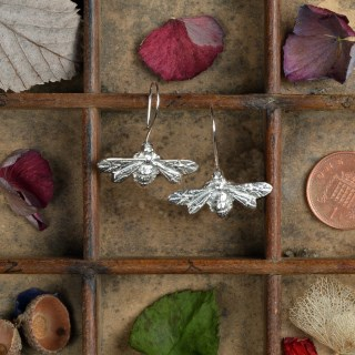 Bee Drop Earrings English Pewter Bee Jewellery Gifts | Image 3