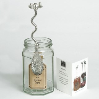 Bee Pewter Spoon Long Honey Jar Spoon with a Hook | Image 5