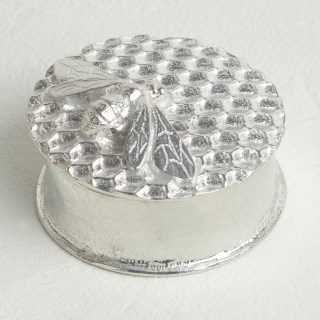 Bee on Honeycomb Pewter Keepsake Trinket Box | Image 2