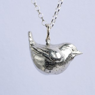 Wren Bird Necklace, Pewter Jewellery For Bird Lovers | Image 4