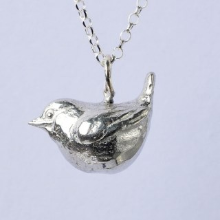 Wren Bird Necklace, Pewter Jewellery For Bird Lovers | Image 3