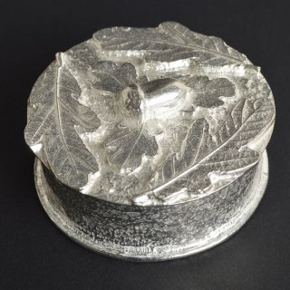 'From Little Acorns' Christening Pewter Trinket Box Personalised | Image 3