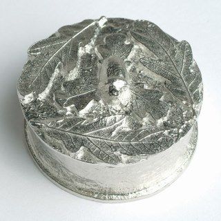 'From Little Acorns' Christening Pewter Trinket Box Personalised | Image 5