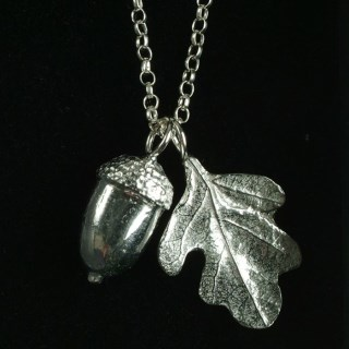 Acorn and Oak Leaf Necklace | Image 3