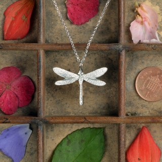 Dragonfly Necklace Pewter Jewellery Gifts UK Handmade | Image 2